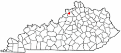 Location of Campbellsburg, Kentucky