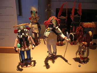 Kachina - Kachina dolls in the Heard Museum in Phoenix, Arizona.
