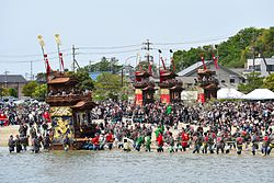 Kamesaki Mud-flats Festival on May