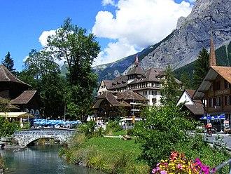 Kandersteg - Kandersteg from the Kander river