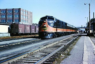 City of New Orleans (train) - Image: Kankakee IC Aug 1964 3 03