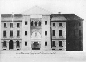 Karlsruhe Synagogue - Architect Weinbrenner's sketch of the building