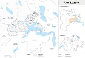 Karte von Amt Luzern