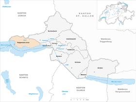 Map of Rapperswil-Jona