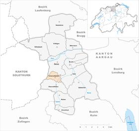 Map of Unterentfelden