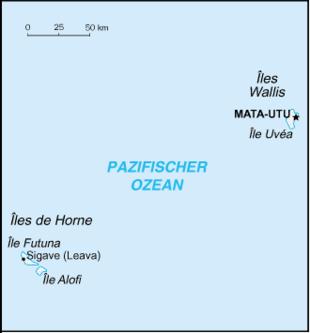 Karte von Wallis und Futuna