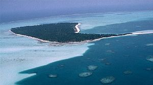 Laccadive Islands - View of Kavaratti, one of the main islands of the subgroup.