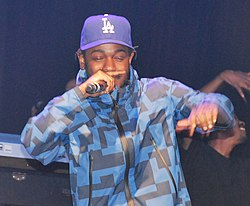Lamar performing in 2015 at the Hollywood Palladium during a pre-Grammy  concert. d0696d486