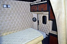 Modern sleeper cab interior