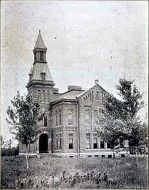 Keytesville, Missouri - Keytesville school, built in 1889.
