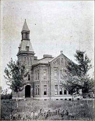 Keytesville, Missouri - Keytesville school, built in 1889.