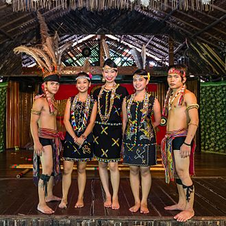 Murut people - Murut in traditional attire.