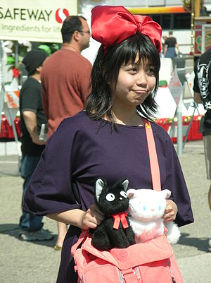 Kiki cosplayer at the Northern California Cherry Blossom Festival in 2010.