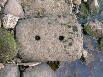 Railroad tie - Stone block from the Kilmarnock and Troon Railway.