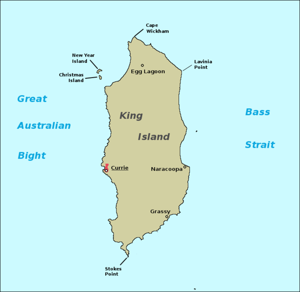 King Island Australia  city pictures gallery : King island map Wikimedia Commons