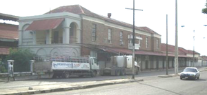 Rail transport in Jamaica - Kingston Railway Station, closed since 1992, as seen in 2007