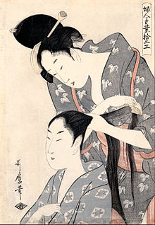 """Hairdresser"" by Utamaro"