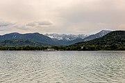 Klagenfurt Sankt Martin Woerter See-Blick mit Maria Loretto und Košuta 08052017 8297.jpg