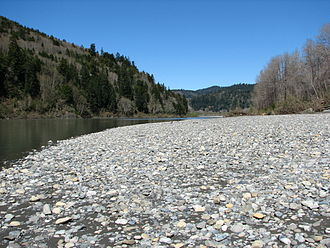 Klamath River - The Klamath River approaching its mouth on the Pacific, near Klamath, California