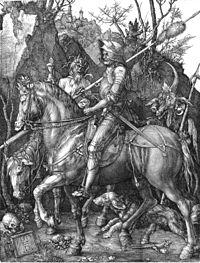 Rycerz, śmierć i diabeł (Albrecht Dürer)Tak zbrojni w moce, na które nie ma lekarstwaBędziemy nadal stawiać i zwalać mocarstwa. Siedem grzechów głównych