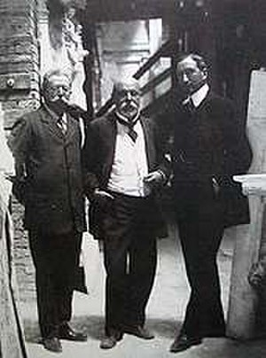 Pio Piacentini - Piacentini (center), with fellow architects Gaetano Koch (left) and Manfredo Manfredi(right)