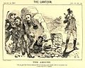 Koegas Affair - Upington under attack from liberal leaders - Lantern 1880.jpg