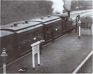 Kokubunji Station - A steam-hauled Chuo Line train at Kokubunji Station in 1915