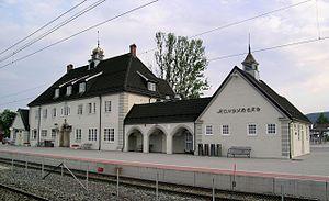 Sørlandet Line - Kongsberg Station in Kongsberg