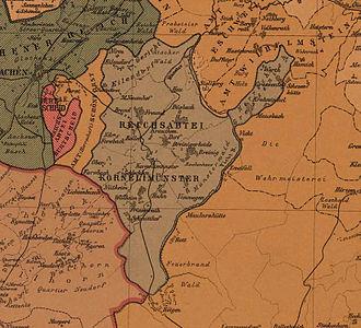 Kornelimünster Abbey - Kornelimünster in 1789