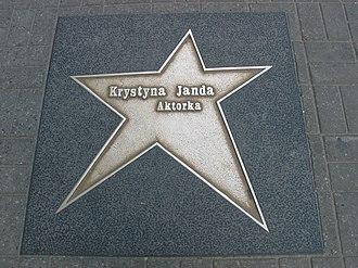Krystyna Janda - Krystyna Janda's star on the Łódź Walk of Fame