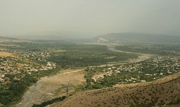 Ksani valley as seen from Ksani fortress (Photo A. Muhranoff, 2011).jpg