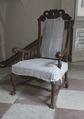 Länstol med möbelöverdrag - Skoklosters slott - 103796.tif