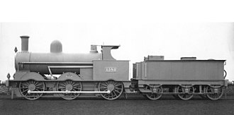 LNWR 18in Goods Class - A photo of 1382 in photographic grey livery, as built.