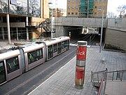 LUAS light rail into underpass
