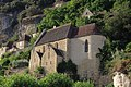 La Roque-Gageac - Église, vue d'en bas.jpg