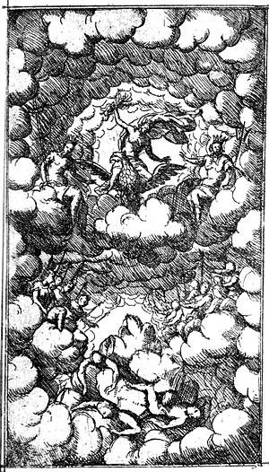 La divisione del mondo - Illustration from the 1675 libretto