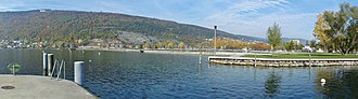 Lake Biel - Lake Bienne, view from Nidau