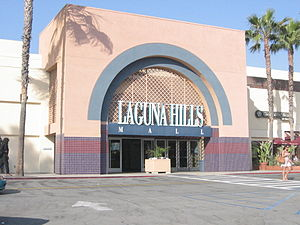attractive destination with an array of quality shopping and dining options - Vintage Real Estate Exterior view of Laguna Hills Mall. Laguna Hills, CA, USA