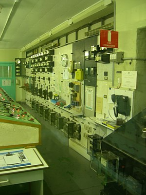 Lake Margaret Power Station - The control room from the former power station, in June 2006. The power station is now operated remotely.