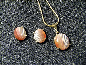 Lake Superior agate - Lake Superior Agate set in 14k gold