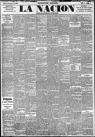 La Nación - Image: Lanacion 1 arg 1870