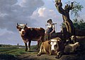 Landscape with cattle and country seat Weizigt in the distance, by Gillis Smak Gregoor.jpg