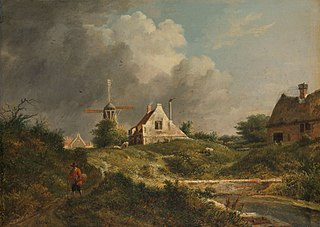 Landscape in the Gooi district of Noord-Holland