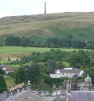 Langholm - Whita hill with obelisk commemorating Sir John Malcolm