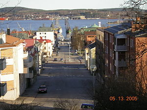 Örnsköldsvik - View towards the seaside