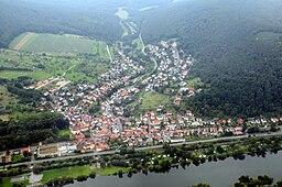Laudenbach, Bavaria, Germany, aerial photograph