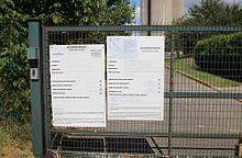 D claration pr alable de travaux wikip dia - Panneau affichage declaration prealable ...