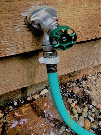 Water conservation - Leaking garden hose bib
