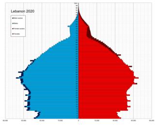 Demographics of Lebanon Aspect of human geography in Lebanon