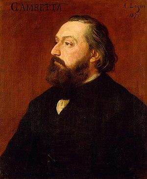 Léon Gambetta - Léon Gambetta, by Alphonse Legros (1875).